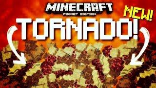 Minecraft Pocket Edition - TORNADOS in Minecraft PE!