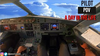 A Day in the Life as an Airline Pilot 3 - PILOT POV | A320 MOTIVATION 4K [HD]
