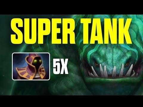 Super Tank Tidehunter Crazy Item Build 5x Hood of Defiance by Meracle - Top MMR Pro Player   Dota 2