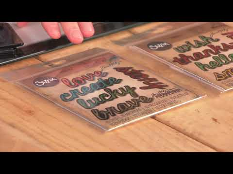 DID YOU KNOW? Sizzix Shadow Script Dies with Tim Holtz