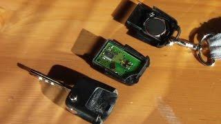 funkschlssel batterie wechseln remote controlled key battery replacement