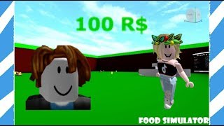 GIVING THE OWNER 100 ROBUX FOR MAX STATS IN FOOD SIMULATOR! || Roblox
