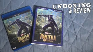 UNBOXING & REVIEW | Black Panther (Pantera Negra) Blu-ray + DVD