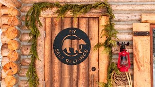 Log Cabin Cost - Build A Debt Free Off Grid Tiny House   Home Tour