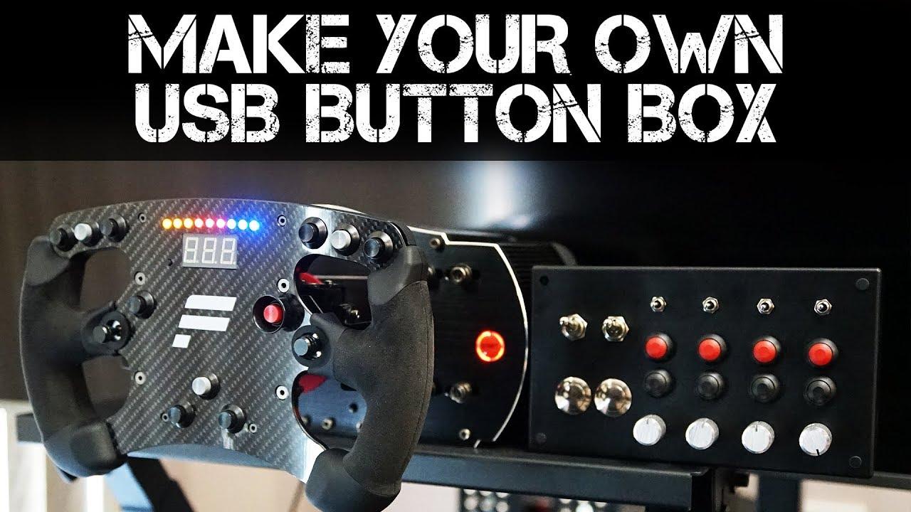 Building an Arduino powered USB Button Box for my Racing Sim