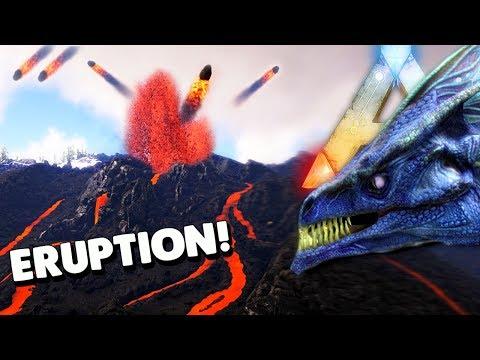 ARK Survival Evolved - RAGNAROK VOLCANO ERUPTION, ICE WYVERN, ICE QUEEN & PLAY AS DINO ( Gameplay )