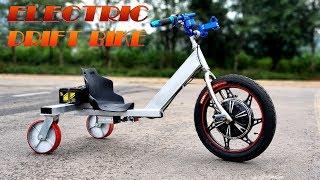 Build A 500W Electric Drift Bike - v2 - Trike Drifting - Tutorial