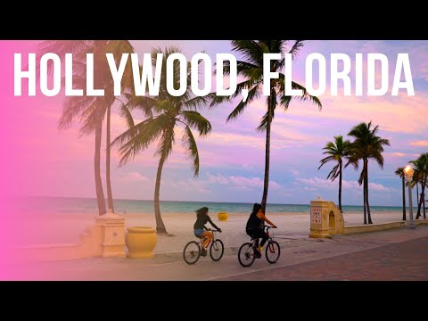 Hollywood, Florida - Complete Tour From Downtown To Hollywood Beach And Broadwalk!