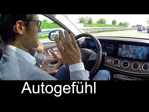 Drive Pilot Test Mercedes E-Class E-Klasse Autonomous Driving motorway Autobahn & more