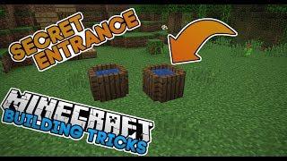 Minecraft - Secret Rain Barrel Entrance - 1.13 Update Aquatic