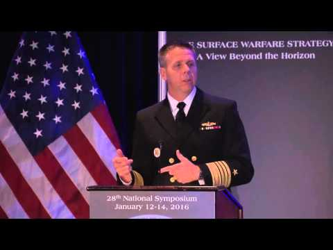 ADM Philip S. Davidson delivers a keynote address at Surface Navy 2016
