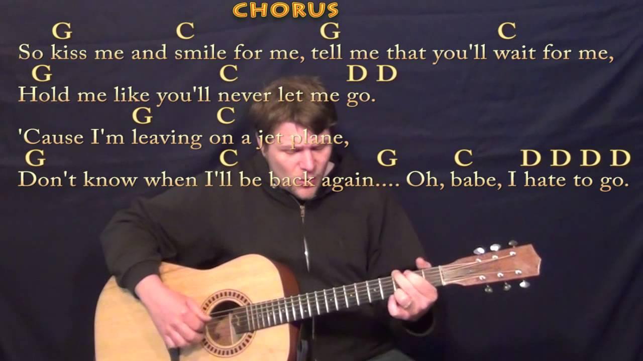 Leaving On A Jet Plane John Denver Fingerstyle Guitar Cover Lesson