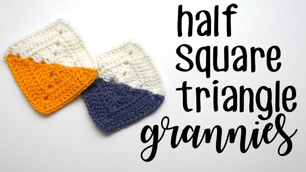 Crochet Half Square Triangle Granny Square Left Handed Youtube