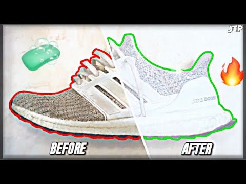 HOW TO: CLEAN SHOES Nicely WITHOUT ANY Expensive Solutions! (Ultra Boost) 🧼