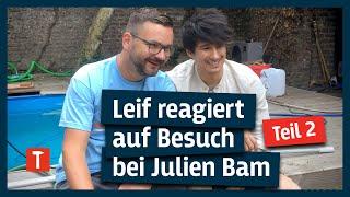 Leif reagiert auf Besuch bei Julien Bam & zeigt uns SEINEN Pool I Teil 2