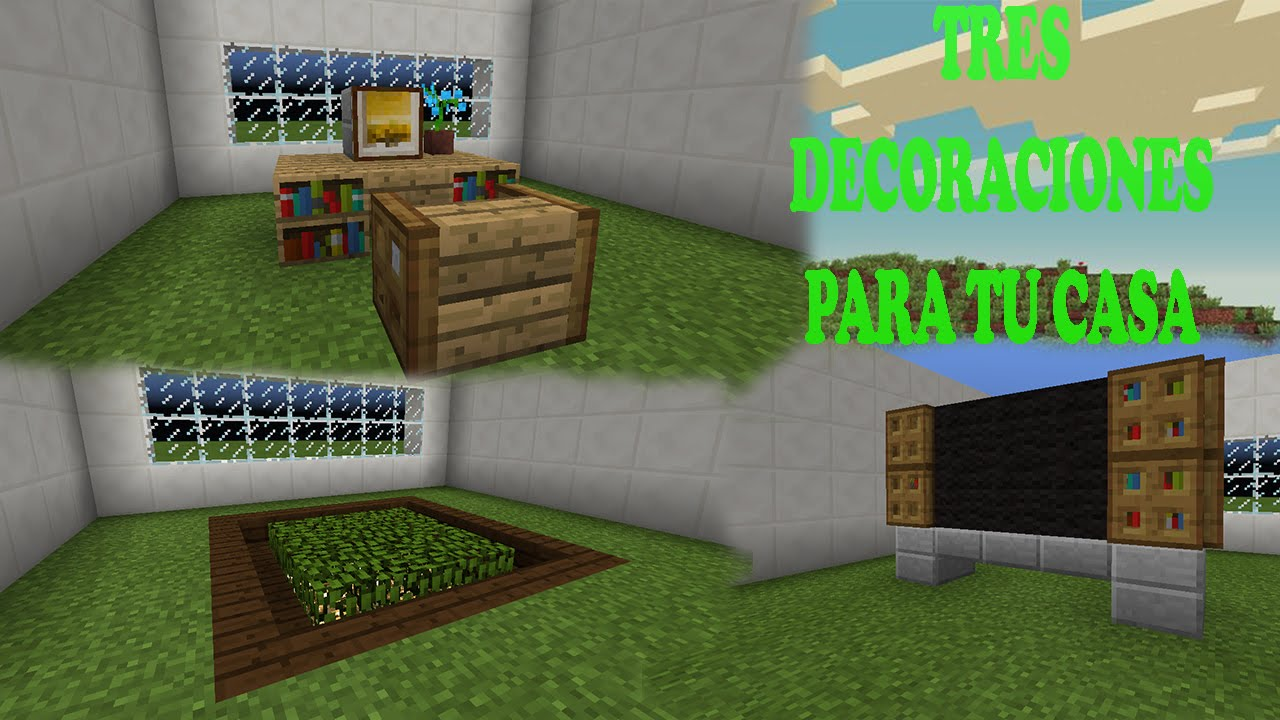 Tres decoraciones para tu casa minecraft pe dalustart for Decoraciones para casas