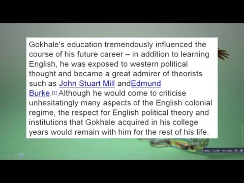 What Is The History Of Gopal Krishna Gokhale