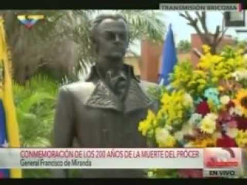 Diosdado Cabello conmemora desde Guanare el bicentenario de la muerte de Francisco de Miranda