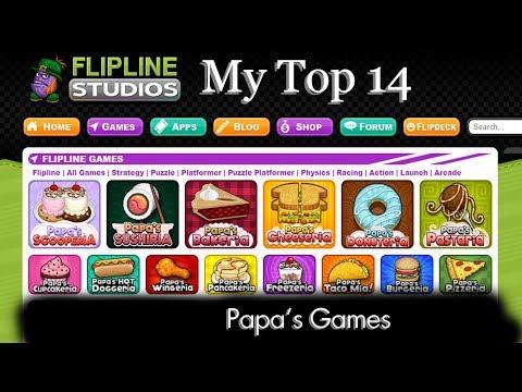 My Top 14 Papa's Games (by Flipline Studios)