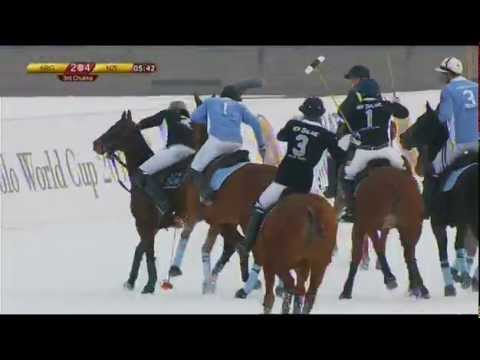 Snow Polo World Cup 2015 - Jan 28th - Argentina vs New Zealand