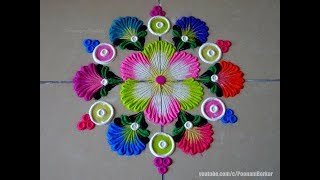Very easy rangoli using bangles | Easy rangoli designs by Poonam Borkar