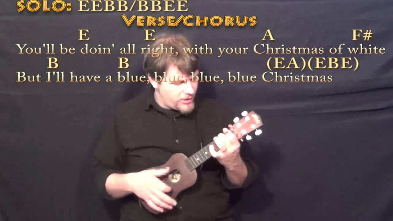 blue christmas elvis ukulele in e cover lesson with chordslyrics - Blue Christmas Ukulele Chords
