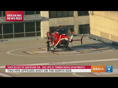 Download WATCH: Life Flight transports wounded Houston police officer to Texas Medical Center