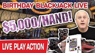 🔴 Up to $5,000/HAND BIRṪHDAY BLACKJACK LIVE @ Atlantis Reno 🃏 Don't Miss This!
