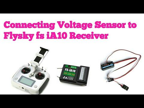 Flysky fs iA10=● How to connect Voltage sensor (Telemetry) to Flysky fs  iA10 receiver