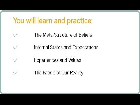 """CRS 10: The Meta Structure of Beliefs: """"Forming the Fabric of Our Reality"""""""