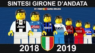 Serie A 2018/19 Sintesi e Goal Andata di Campionato 2019 Lego Calcio • Film Lego Football Highlights