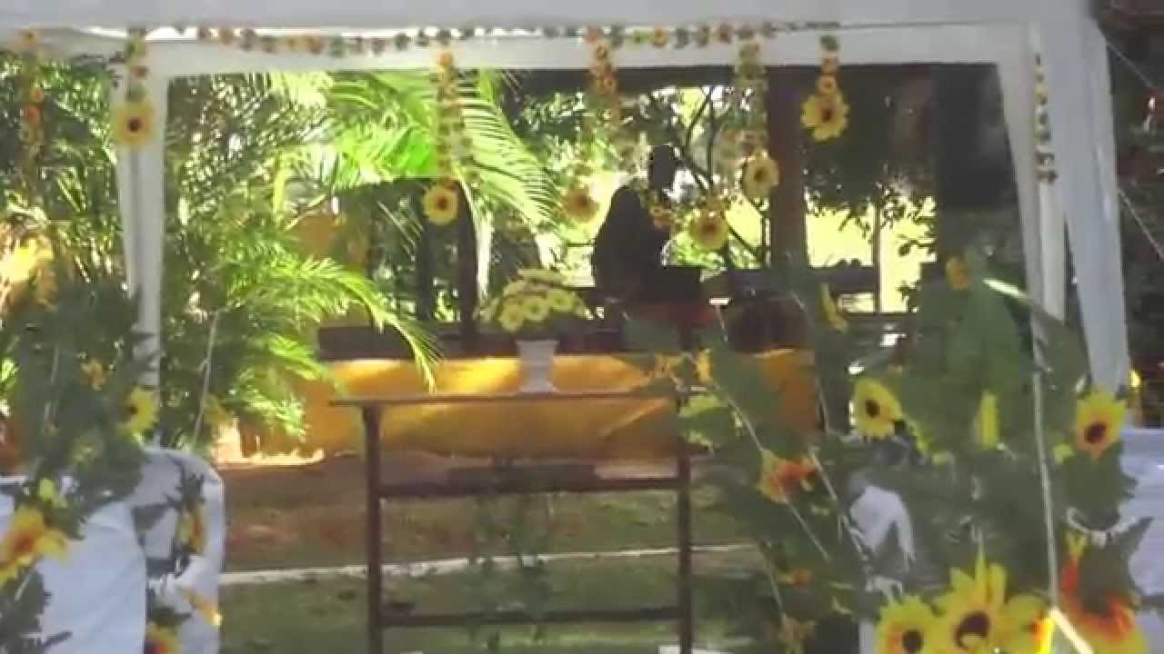 DECORA u00c7ÃO COM GIRASSOL YouTube -> Decoração De Festa De Aniversario Girassol