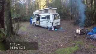 Camping #1 Hellyer Gorge, Tasmania