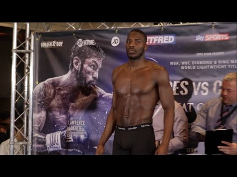 OKOLIE'S OUT THE CAGE!! - LAWRENCE OKOLIE FIRST EVER PROFESSIONAL WEIGH IN  - OKOLIE v CAVE