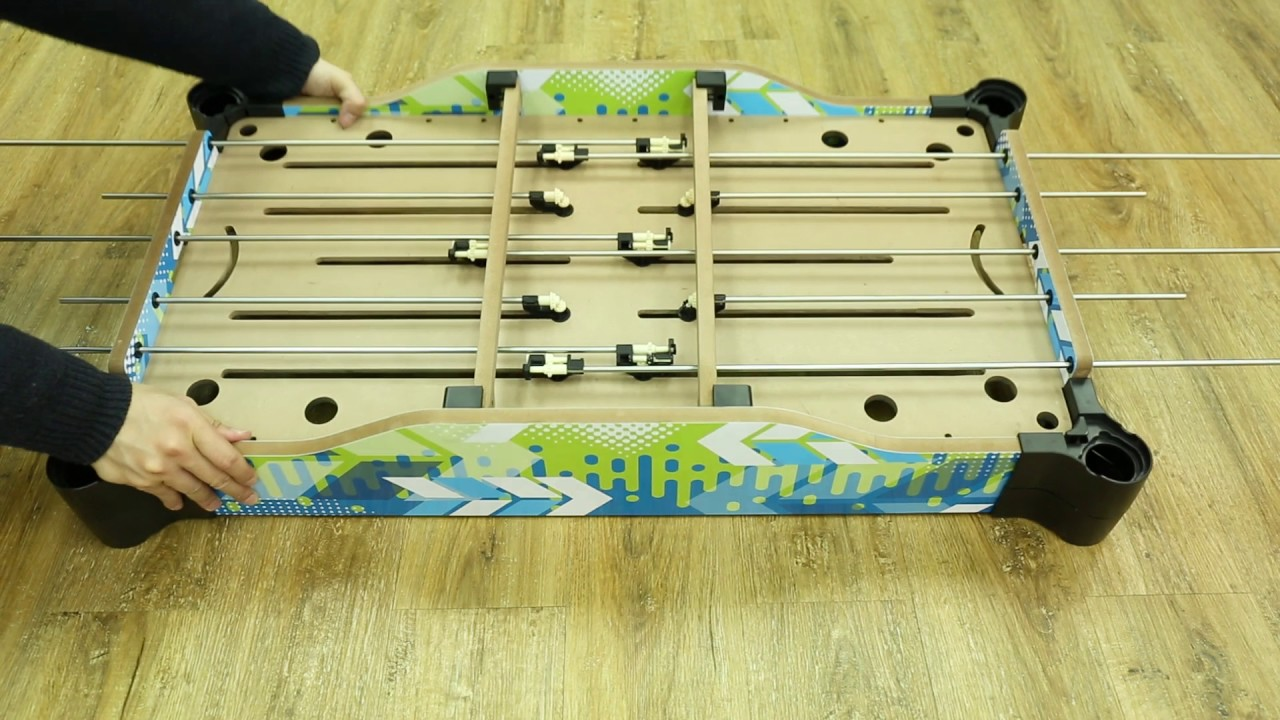 36 Inch Table Top Rod Soccer And Hockey Game Prototype Review Gameplay U0026  Setup Videos 1080p