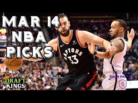 3/14/19 NBA DraftKings & Yahoo Picks
