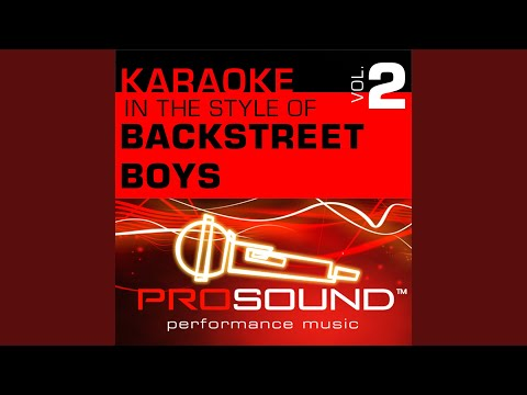 It's Gotta Be You (Karaoke With Background Vocals) (In the style of Backstreet Boys)