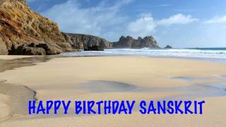 Sanskrit   Beaches Playas - Happy Birthday