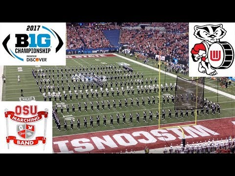 Ohio State vs Wisconsin Marching Bands 2017 (4K UHD)