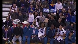 Jimmy Butler Shocks Minnesota Timberwolves Teammates By Waving Towel With Golden State Warrior Fans