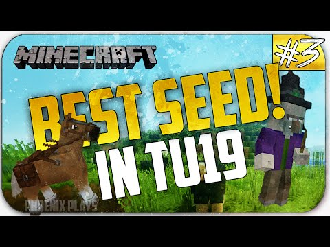 Minecraft Xbox One/Xbox 360/PS3/PS4:Best Starter Seed In TU19 - Horses, Witchhuts, Nametags and More