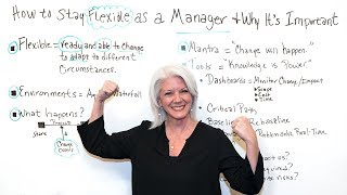 How to Stay Flexible as a Manager & Why It's Important - Project Management Training