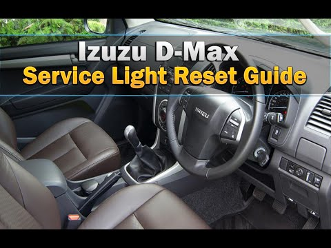isuzu d-max service light reset - youtube