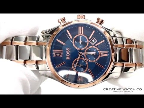 hands on with the men 39 s hugo boss watch 1513321 youtube. Black Bedroom Furniture Sets. Home Design Ideas