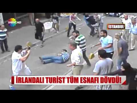İrlandalı Boksör Turist Aksaray Esnafını Dövdü
