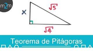 Teorema de pitágoras con raíces y fracciones │ ejercicios