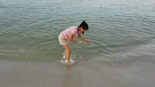 Panama City Beach. Morning clear calm water.