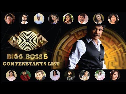 Big Boss Season-5 Telugu 19 Contestants List  Big Boss Season-5 Telugu  Telugu Tv