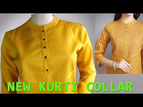 Perfect Round Collar Cutting and Stitching Easy method