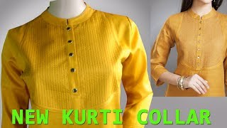 Perfect round collar neck cutting and stitching in Hindi
